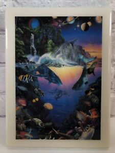 Christopher Riese Lassen 'Cosmos' famous painting on Vintage Ceramic Tile