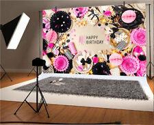 Vinyl Happy Birthday Photo Backgrounds 7x5Ft Studio Backdrops Beauty Party Decor