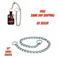 "12"" Inch Small Dog Choke Chain - Collar - Obedience Collar - New"