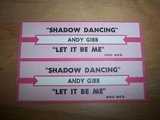 "2 Andy Gibb Shadow Dancing /Let It Be Me Jukebox Title Strip CD 7"" 45RPM Records"