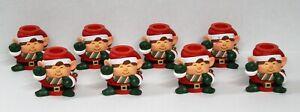 Lot 8 Vintage Hallmark CHRISTMAS ELF Candle Holders Holiday Candlesticks w/Bells