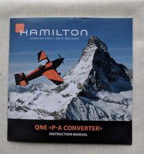 Hamilton Khaki Aviation QNE P-A Converter Automatic Watch Instruction Manual