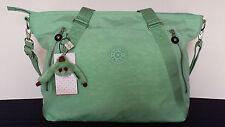 NWT Kipling Fleur Seafoam Mint Green Shoulder Crossbody Tote Bag Purse TM5234