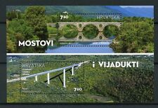 Croatia 2017 MNH Bridges & Viaducts 2v M/S Architecture Tourism Stamps