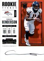 CARLOS HENDERSON 2017 Panini Contenders ROOKIE Ticket AUTO #332 Denver Broncos