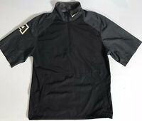 Nike Men's 1/4 Zip Army Black Knights Short Sleeve Windbreaker Jacket Size Small
