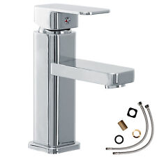 Robinet à levier unique mitigeur salle de bain lavabo armature chrome carré