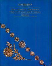 Sotheby's Chester Silver, Jewellery, Vertu, Ceramics April 26 1989