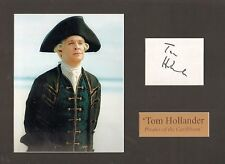 TOM HOLLANDER-PIRATES OF THE CARIBBEAN-SIGNED CARD & PHOTO DISPLAY-AFTAL/UACC RD