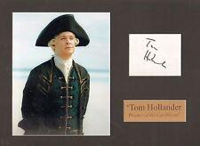 TOM HOLLANDER-PIRATES OF THE CARIBBEAN-SIGNED CARD & PHOTO DISPLAY-AFTAL/UACC RD