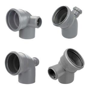 Bogen Kunststoff HT-Rohr Installation Abwasser 110 x 50 mm 45° 90° Grau NEU