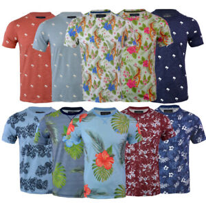 Mens Tokyo Laundry Hawaiian Floral T- Shirt Short Sleeve Casual Summer S-XXL