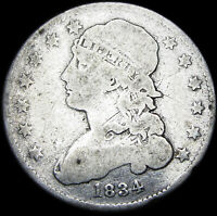 1834 Capped Bust Quarter Dollar   ---- Nice DETAILS Type Coin  ---- #F886