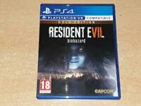 Resident Evil Biohazard Gold Edition PS4 Playstation 4 VR Compatible