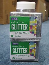 "Sulyn Extra Fine Glitter ""Sterling"" 2.5 oz LOT OF TWO (2)"