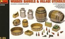MINIART-legno BARILI BIDONI FUSTI Wooden barili Milk-cans 1:35 Diorama Kit