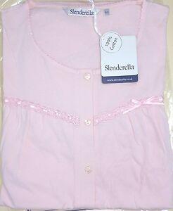 Slenderella Womens 100% Jersey Cotton, Short Sleeve Premium Pyjama. Blue or Pink