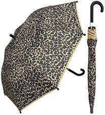 "32"" Children Kid Leopard Print Umbrella - RainStoppers, Rain/Sun UV Cute"