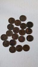 Reino Unido de Gran Bretaña británico un 1 centavo Antiguo Victoria moneda Lote Nº