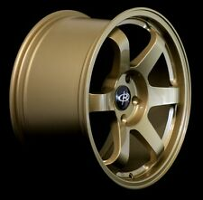 ROTA GRID 17X9 +42 GOLD 5X100 WHEELS FIT COROLLA FR-S VW JETTA GOLF GTI PASSAT