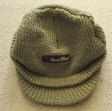 Special Blend Men's Winter Visor Beanie Knit Billed Hat Knit Ski Brimmed Cap
