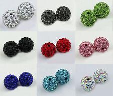 Wholesale 90 Pcs Cz Crystal Shamballa Beads Pave Disco Balls Mixed Color 10MM