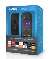 ROKU EXPRESS ( 3900r ) STREAMING MEDIA PLAYER (BLACK) LATEST MODEL , NEW IN BOX