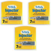 Schick Injector Blades with durable chromium 7 blades per pack - Pack of 3
