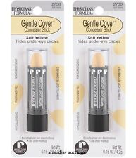 Lot of 2 New Physicians Formula Gentle Cover Concealer Stick Soft Yellow 2738