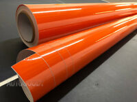 "12"" x 60"" Super Gloss Orange Vinyl Film Wrap Sticker Air Bubble Free 1ft x 5ft"