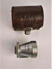 CANON RANGEFINDER 35 MM SHOE MOUNT VIEW FINDER W/ LEATHER CASE