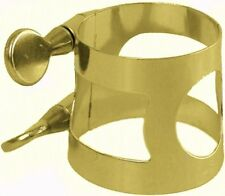Carmichael Tenor Saxophone Ligature - Gold Lacquer Nickel Plated Ligature