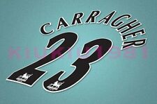 Liverpool Carragher #23 PREMIER LEAGUE 97-06 Black Name/Number Set