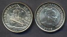 DENMARK 20 Kroner  2008 Comm.tive Dannebrog  UNC