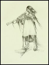 "Native American Vintage Artist Proof by Ken Schmidt: ""Where the Free Wind Blows"""