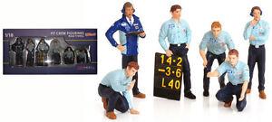Truescale TSM12AC12 Pit Crew Figurines Team Tyrrell F1 (Set Of 6) 1/18 Scale