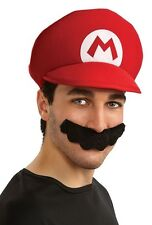 Mario Hat & Mustache Super Mario Brothers Dress Up Halloween Costume Accessory