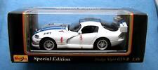 1997 DODGE VIPER GTS-R 1:18 DIE CAST CAR SPECIAL EDITION MAISTO