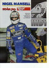 W15 Ritaglio Clipping 1992 Formula 1 Intervista Mansell -Senna Williams Hakkinen