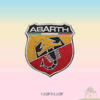 Abarth Car Brand Logo Embroidered Iron On Patch Sew On Badge Applique