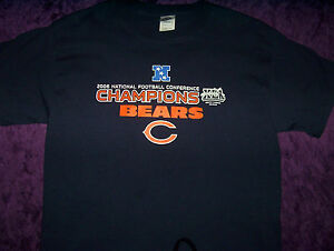 Chicago Bears NFC 2006 National Football Conference Champions T-Shirt Sz Med
