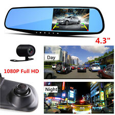 HD 1080P Car DVR Dash Camera Dual Lens Cam Video Recorder Night Vision G-sensor