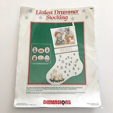 Dimensions Littlest Drummer Christmas Stocking Cross Stitch Nativity Name #8382