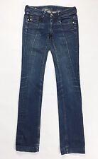 Diesel blizz jeans W27 L34 tg 40 41 slim dritto blu usato boyfriend donna T457