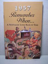 60th Birthday / Anniversary - 1957 Remember When Nostalgic Book Card  - NEW