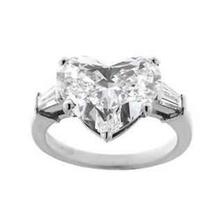 925 Sterling Silve Heart Shaped 3CT Simulated Diamond Wedding Engagement Ring