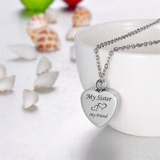 Cremation Jewelry Ashes Urn Pendant Keepsake Memorial Necklace Locket Relatives Sister