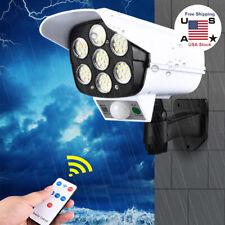 Solar LED Wall Light Motion Sensor Street Yard Outdoor Security Lamp Fake Camera