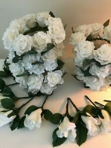 ivory wedding flowers bundle candle rings and buttonholes