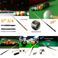 2 Piece Wood Jointed Pool Cue Sport Game Stick Snooker Billiard